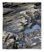 Point Lobos Rock 4 Fleece Blanket
