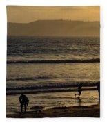 Point Loma California Surfers Fleece Blanket