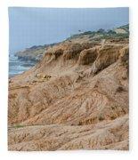 Point Loma Coastline Fleece Blanket