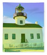 Point Loma Lighthouse Fleece Blanket