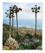 Point Loma Lighthouse Overlook Fleece Blanket