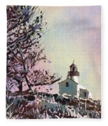 Point Loma Lighthouse- San Diego Fleece Blanket