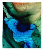 Point Of Power - Abstract Painting By Sharon Cummings Fleece Blanket