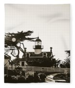 Point Pinos Lighthouse Fleece Blanket