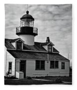 Point Pinos Pacific Grove Lighthouse Fleece Blanket