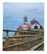 Point Reyes Lighthouse Fleece Blanket