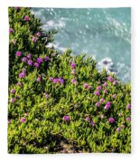 Point Reyes National Seashore Coast On Pacific Ocean Fleece Blanket