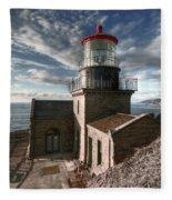 Point Sur Lighthouse - California  Fleece Blanket