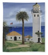 Point Vicente Lighthouse Fleece Blanket