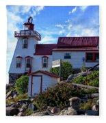 Pointe Au Baril Lighthouse Fleece Blanket