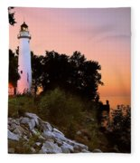 Pointe Aux Barques Fleece Blanket