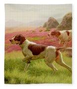 Pointers In A Landscape Fleece Blanket