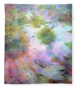 Pointillism Coneflowers 3571 Idp_3 Fleece Blanket