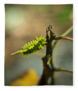 Poisonous Insect Larva Fleece Blanket