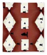 Poker Sharks Fleece Blanket