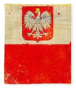 Poland Flag Fleece Blanket