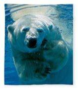Polar Bear Contemplating Dinner Fleece Blanket