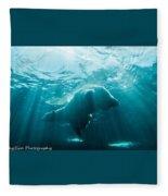 Polar Bear Swim Fleece Blanket