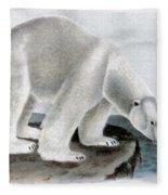 Polar Bear (ursus Maritimus) Fleece Blanket