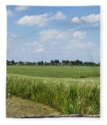 Polder Near Reeuwijk-1 Fleece Blanket