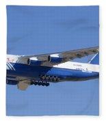 Polet Antonov An-124 Ra-82080 Landing Phoenix-mesa Gateway Airport January 14  Fleece Blanket