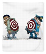 Police And Black Folks Are Targets Fleece Blanket