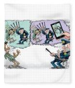 Police Beatings And Phone Videos Fleece Blanket