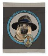 Police Dog Fleece Blanket