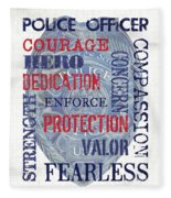 Police Inspirational 1 Fleece Blanket
