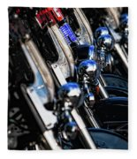 Police Motorcycles Fleece Blanket