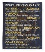 Police Officers Prayer Fleece Blanket