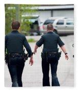 Police Pants Fleece Blanket