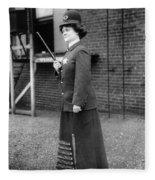 Policewoman, 1909 Fleece Blanket