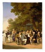 Politicians In The Tuileries Gardens Fleece Blanket