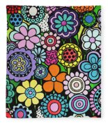 Polka Dot Bouquet Fleece Blanket