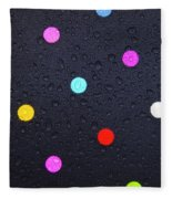 Polka Dot Umbrella Fleece Blanket