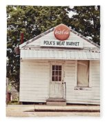 Polk's Meat Market Fleece Blanket