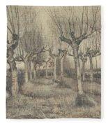Pollard Birches Nuenen  March 1884 Vincent Van Gogh 1853  1890 Fleece Blanket