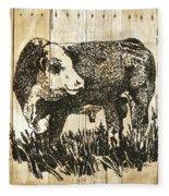 Polled Hereford Bull 11 Fleece Blanket