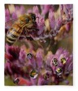 Pollen Bees Fleece Blanket