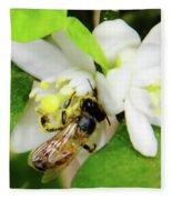Pollen - Covered - Bee Fleece Blanket