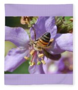 Pollinating 4 Fleece Blanket