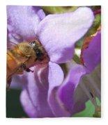 Pollinating 5 Fleece Blanket
