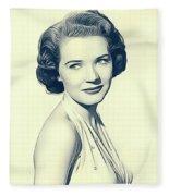 Polly Bergen, Vintage Actress Fleece Blanket