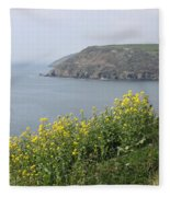 Polperro To Looe Fleece Blanket