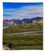 Polychrome Pass Area Denali National Park Four Fleece Blanket