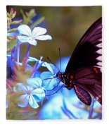 Polydamas Swallowtail Butterfly Fleece Blanket