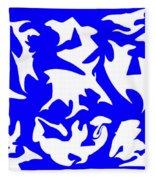Polygon Sky Fleece Blanket