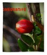 Pomegranite Art II Fleece Blanket