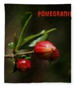 Pomegranite Art Fleece Blanket